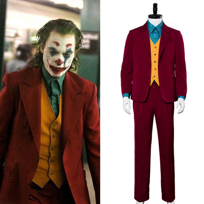 2019 New Movie DC Comics Joker Cosplay Costume Full Set Outfit For Halloween Carnival Version A