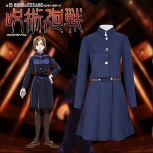 Jujutsu Kaisen Kugisaki Nobara Navy Blue Skirt Set Cosplay Costume for Halloween Carnival Party