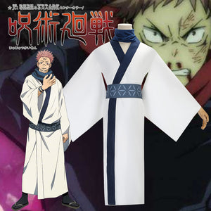 Jujutsu Kaisen Ryomen Sukuna White Kimono Cosplay Costume for Halloween Carnival Party