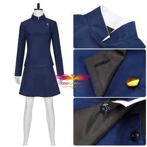 Jujutsu Kaisen Zenin Maki Navy Blue Skirt Set Cosplay Costume for Halloween Carnival Party