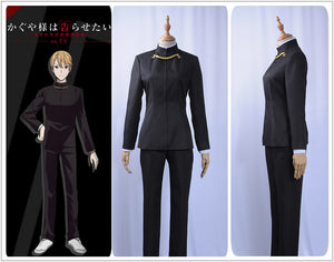 Kaguya-sama Love is War Miyuki Shirogane Cosplay Costume Men Black Long Sleeve Jacket Pants Shirt Academy Uniform