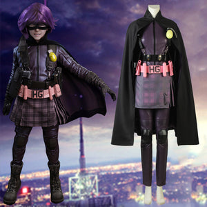 Kick-ass Hit Girl Mindy Macready Adult Women Battle Suit Cosplay Costume Full Set for Halloween Carnival