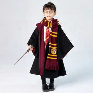 Kids Cosplay Harry Potter Hogwarts Gryffindor Slytherin Ravenclaw Hufflepuff Wizard Witch Robe Autumn Winter Cosplay Costume