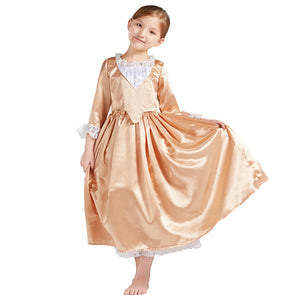 Kids Version Hamilton Musical Angelica Stage Dress Child Size Concert Cosplay Costume Carnival Halloween
