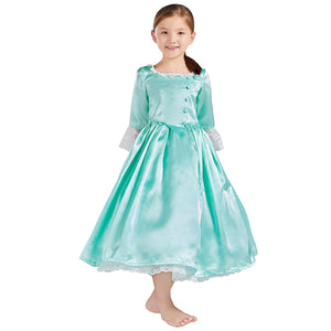 Kids Version Hamilton Musical Elizabeth Schuyler Stage Dress Child Size Concert Cosplay Costume Carnival Halloween