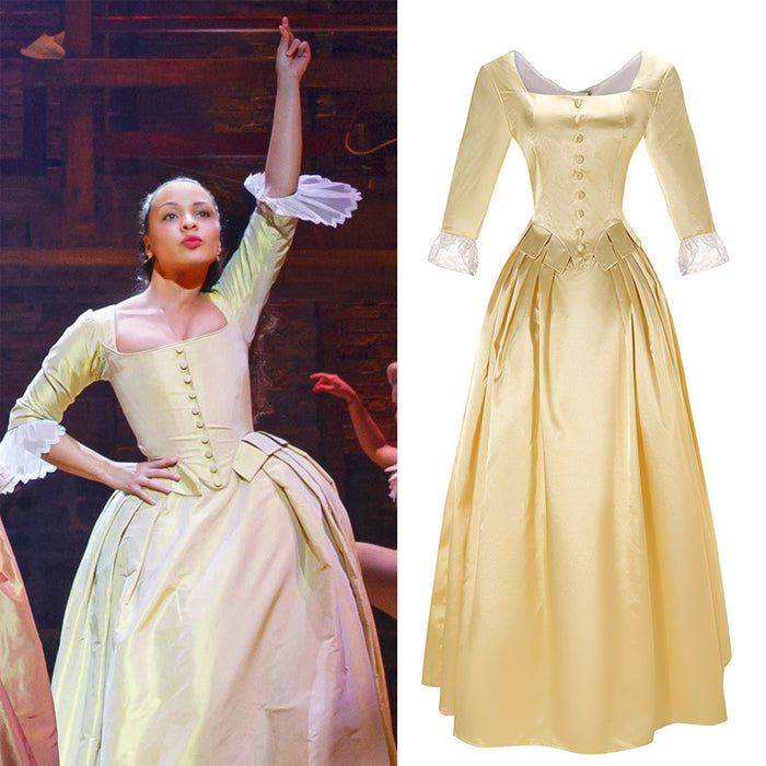 Kids Version Musical Hamilton Peggy the Schuyler Sisters Dress Child Size Cosplay Costume Carnival Halloween