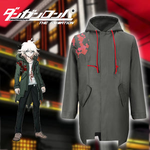 Komaeda Nagito Jacket Super Danganronpa 2 Army Green Jacket Only Cosplay Costume