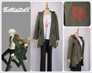 Komaeda Nagito Jacket Super Danganronpa 2 Army Green Jacket cosplay costume Full Set