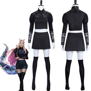 LOL League of Legends KDA The Queen Ahri Cosplay Costume Halloween Carnival Adult Outfit