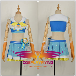 LoveLive!SunShine!! Aqours Kanan Matsuura Cheering Squad Cheer team Cheerleaders Awakening Cosplay Costume