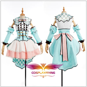LoveLive SunShine Aqours Kunikida Hanamaru White Valentine's Day Cosplay Costume Custom Woman Ball Gown Dress Skirt Socks