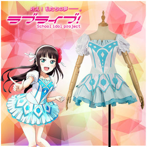 LoveLive!SunShine!!Aqours Kurosawa Dia Activity Cards Stage Cosplay Costume Adult Outfit
