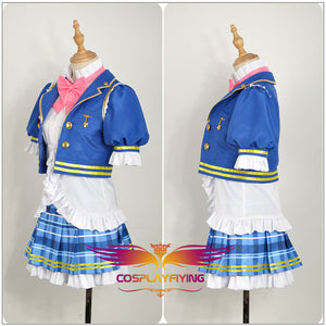 LoveLive!SunShine!! Aqours Kurosawa Ruby Stage Blue Dress Cosplay Costume