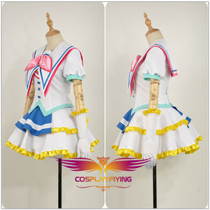 LoveLive!SunShine!! Aqours OP Jumping Heart Sakurauchi Riko Stage Girls Dress Outfit Cosplay Costume