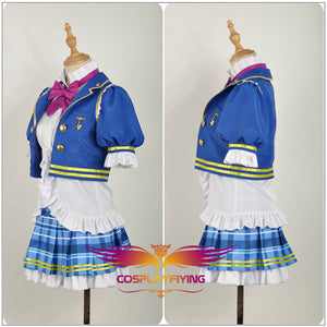 LoveLive!SunShine!! Aqours Ohara Mari Stage Blue Dress Cosplay Costume