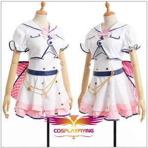 LoveLive SunShine Aqours Ruby Kurosawa 6th Anniversary Stage COS Cosplay Costume Custom Sexy Strapless Dress + Jacket Hairpin