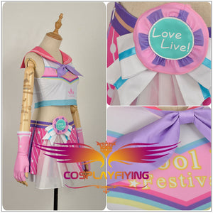 LoveLive!SunShine!! Aqours Ruby Kurosawa Cheering Squad Cheer team Cheerleaders Awakening Cosplay Costume