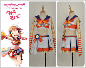 LoveLive!SunShine!! Aqours Takami Chika Cheering Squad Cheer team Cheerleaders Awakening Cosplay Costume