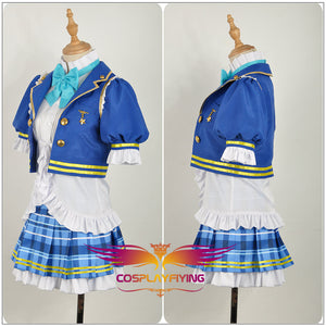 LoveLive!SunShine!! Aqours Watanabe You Stage Blue Dress Cosplay Costume