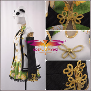 LoveLive!SunShine!! Kunikida Hanamaru Girl Fancy Cheongsam Awakening Cosplay Costume