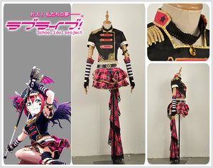 LoveLive!SunShine!! Kurosawa Ruby Rock Awakening Stage Uniform Cosplay Costume