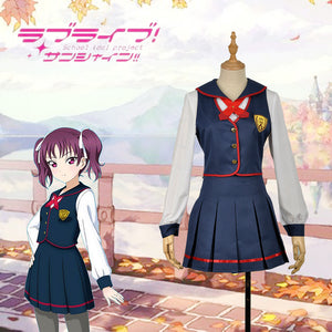 LoveLive!SunShine!! Saint Snow Ria Kazuno School Uniform Cosplay Costume