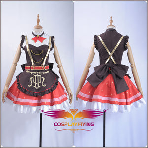 LoveLive!Sunshine!! Aqours Bremen Band Ruby Kurosawa Cosplay Costume Women Ruffles Shirt Chocolate Rompers Overalls