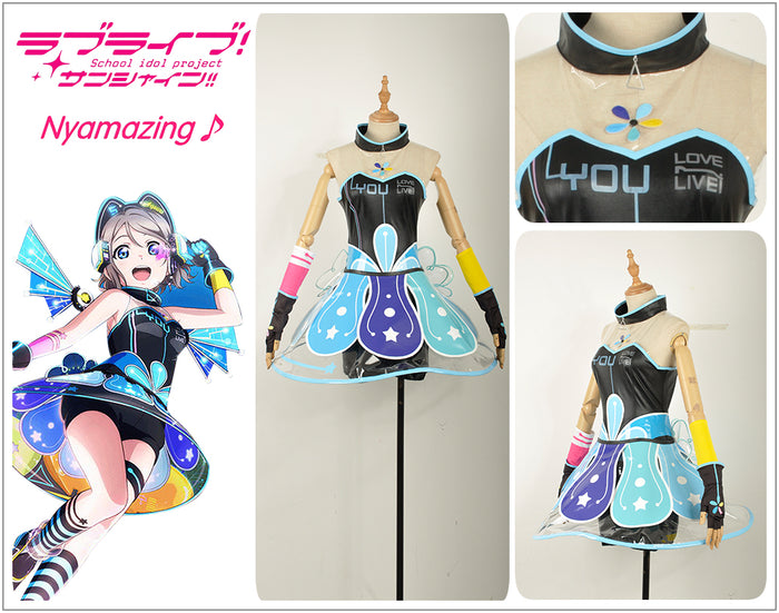 LoveLive!Sunshine! Aqours Video Games Awakening Watanabe You Cosplay Costume for Halloween Carnival