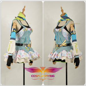 Love Live! Ayase Eli Cos Awakening Crayon/Painter Cosplay Costume Party Dress