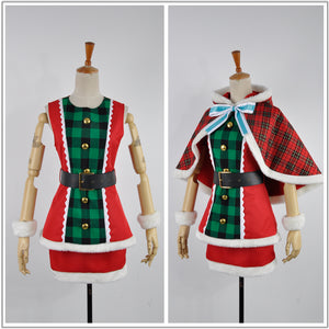 Love Live! Christmas Awakening Card Ayase Eli Dress Cosplay Costume for Halloween
