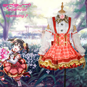 Love Live Flowers Awakening Yazawa Nico Dress Bouquet Cosplay Costume for Halloween Carnival