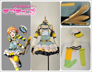 Love Live! Hoshizora Rin Cos Awakening Crayon/Painter Cosplay Costume Party Dress