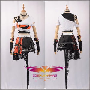 Love Live! Kousaka Honoka Fancy Stage Girls Black Leather ROCK Awakening Cosplay Costume