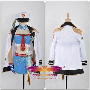 Love Live! Navy Awakening Eli Ayase Cosplay Costume Custom Made for Girls Adult Women Halloween Carnival Party Outfits