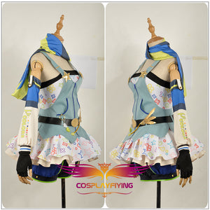 Love Live! Sonoda Umi Cos Awakening Crayon/Painter Cosplay Costume Party Dress
