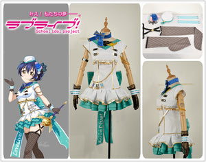 Love Live! Sonoda Umi Sky Awakening Girl Cosplay Costume Stage Dress