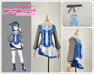 Love Live! Sunshine!! Aqours Tsushima Yoshiko All Members OP2 Stage Dress Concert Cosplay Costume