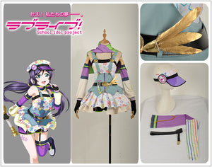 Love Live! Tojo Nozomi Cos Awakening Crayon/Painter Cosplay Costume Party Dress