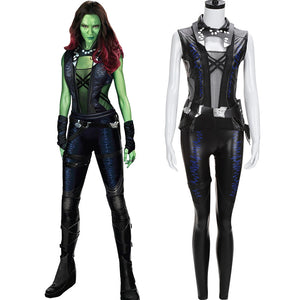 Marvel Avengers Guardians of the Galaxy Gamora Outfit Cosplay Costume For Adult Halloween Carnival Outfit