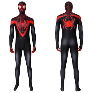Marvel Avengers Ultimate Spider-Man Miles Morales Jumpsuit Cosplay Costume for Halloween Carnival Version B