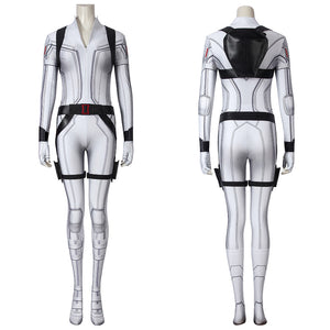 Marvel Comics Black Widow Natasha Romanoff White Suit Cosplay Costume Version B for Halloween Carnival