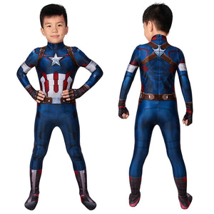 Marvel Kids Cosplay Avengers: Age of Ultron Captain America Jumpsuit Child Size Cosplay Costume