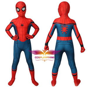 Marvel Kids Cosplay Captain America Civil War Spider-Man Jumpsuit Child Size Cosplay Costume