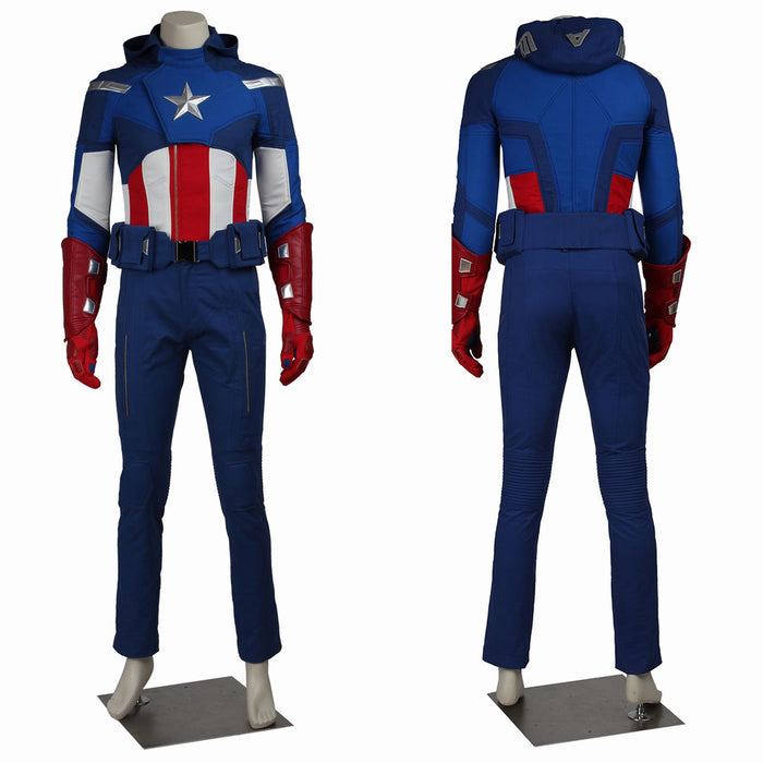 Marvel Avengers 1 Captain America Rogers Cosplay Costume for Halloween Carnival