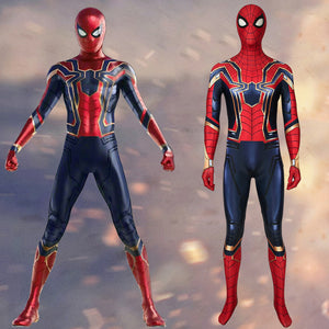 Marvel Movie Avengers 4: Endgame Iron Spiderman Peter Parker Cosplay Costume Halloween Carnival Luxurious Version