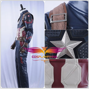 Marvel Avengers 4: Endgame Captain America Steve Rogers Cosplay Costume Uniform Suit for Halloween Carnival