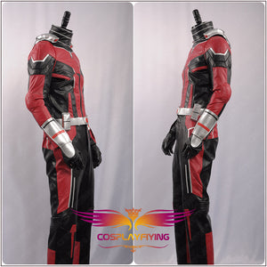 Marvel Avengers Ant-Man and the Wasp Ant Man Scott Lang Uniform Outfit Leather Cosplay Costume