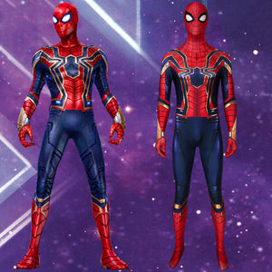 Marvel Avengers Spider-Man: Far From Home Iron Spider Peter Parker Cosplay Costume