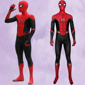 Marvel Film Spider-Man Far From Home Peter Parker Jumpsuit Full Set for Halloween Carnival Simple Version