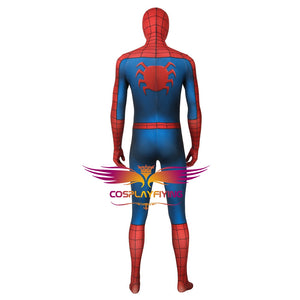Marvel Avengers Spider-Man Peter Parker Classic suit Jumpsuit Cosplay Costume for Halloween Carnival